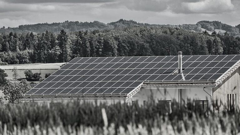 Solceller på husets tag
